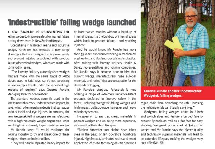 NZ Logger Magazine - Wedgetek